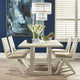 The Imperial Rattan White Dining Chair - Natural Linen