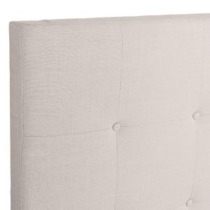 Regent Tufted Queen Bedhead - Natural Linen