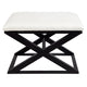 Spencer Black Timber Stool - Natural Linen