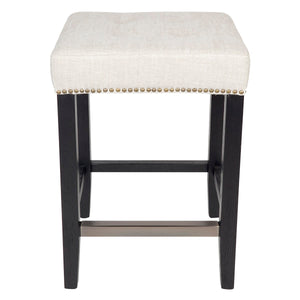 Canyon Black Oak Kitchen Stool - Natural Linen