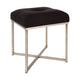 Margot Tufted Stool - Black Linen