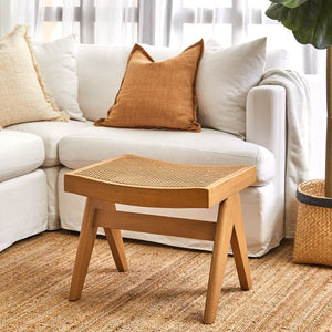 Cuban Rattan Stool - Natural
