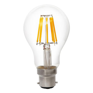 Globe LED Glass 8W 2700K Clear B22 Non-Dimmable