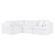 Birkshire Slip Cover Modular Sofa - White Linen Option 2