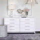 Pearl 8 Drawer Chest - White