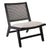Palmer Rattan Occasional Chair - Black Frame w Natural Linen