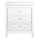 Plantation Bedside Table -  Large White