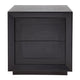 Balmain Oak Tall Bedside Table - Black