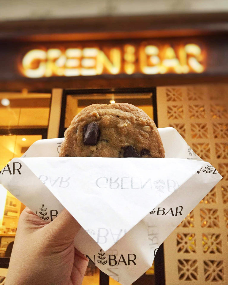 vegan chocolate chunk cookies, soft  and chewy. makati manila philippines. plant based sweets and baked goods