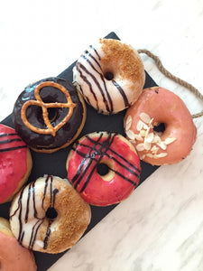 vegan gourmet yeast raised donuts, unique flavors. makati manila philippines. plant based sweets and baked goods