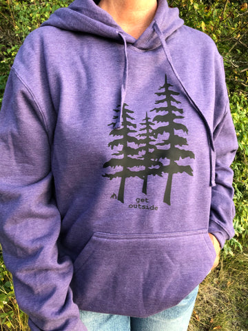Get Outside 3 Trees Hoodie