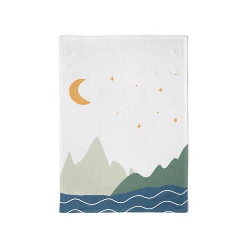 Organic Kitchen Towel Moon & Mountains - Schmidt's Papeterie