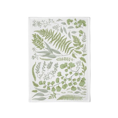 Organic Kitchen Towel Green Leaves - Schmidt's Papeterie