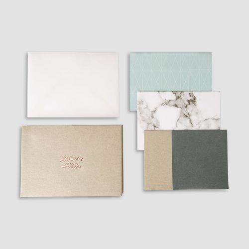Gift Cards Set, Pure Natira - Schmidt's Papeterie