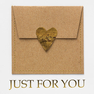 "Gutscheinkarte ""Just for You"" - Schmidt's Papeterie"