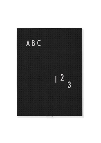Message Board Schwarz DIN A4 Product Design Letters