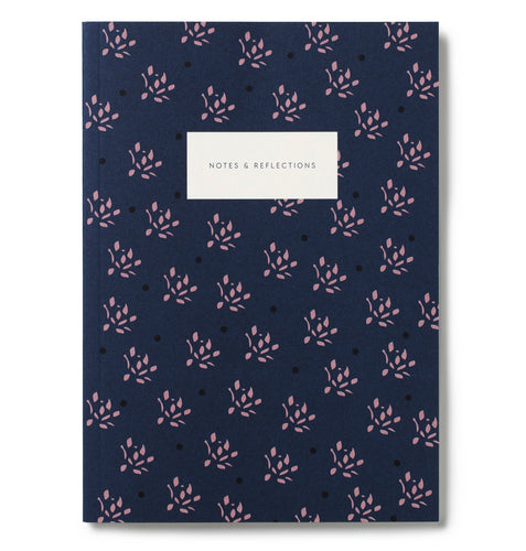 Small Notebook Floral Navy - Schmidt's Papeterie