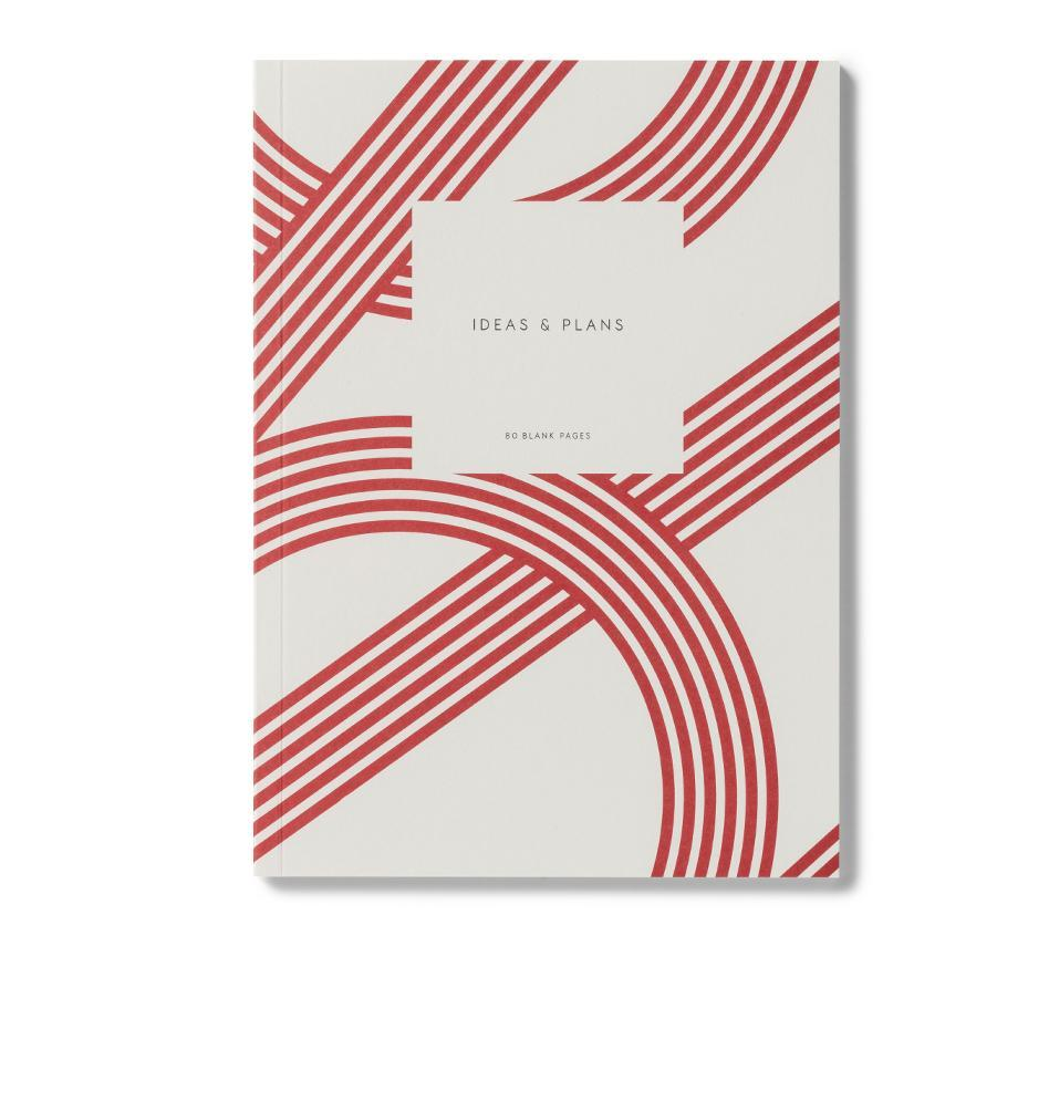 Small Notebook Lines Red - Schmidt's Papeterie