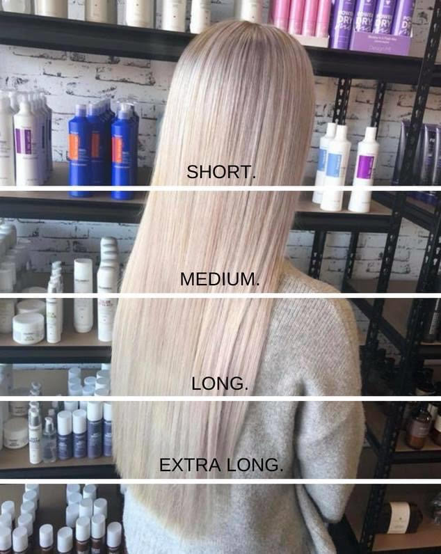 Astonish Hair & Beauty guide to hair length