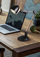 Load image into Gallery viewer, Nadal - Copper & Black Desk Lamp