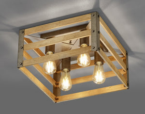Khan - 4 Light Flush Ceiling Light