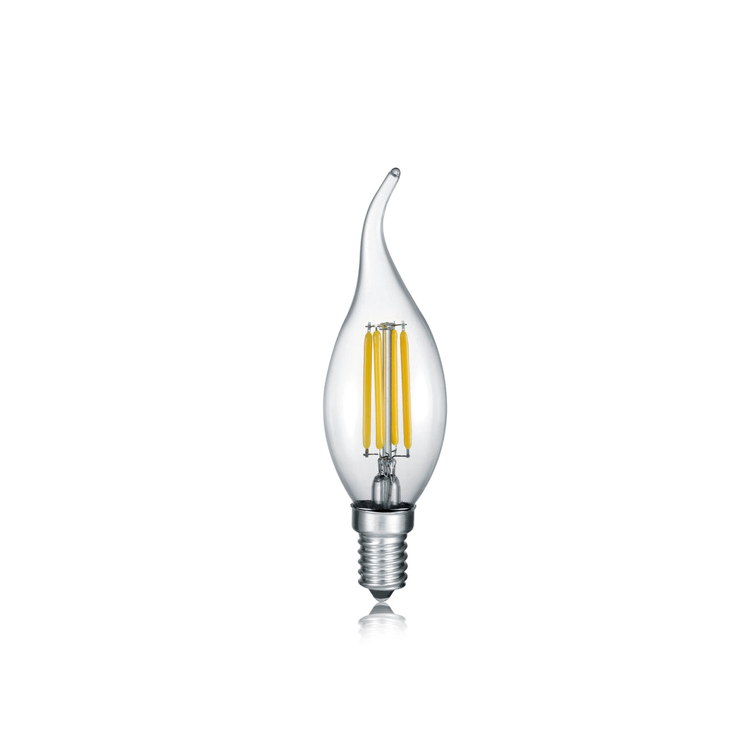 E14 LED FILAMENT Flame Tip Bulb 4 Watt