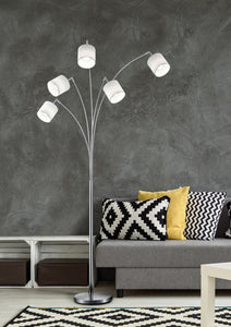 Tommy - Nickel & White Floor Lamp