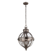 Load image into Gallery viewer, Noelle 3 Light Pendant Chandelier - Antique Nickel
