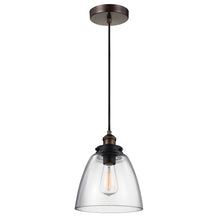 Load image into Gallery viewer, Bebie 1 Light Pendant - Aged Brass/Dark Weathered Zinc
