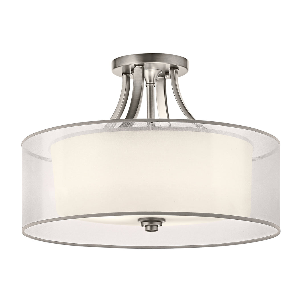 Hazelmere 4 Light Semi-Flush Mount - Antique Pewter