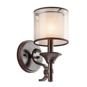 Hazelmere 1 Light Wall Light - Mission Bronze
