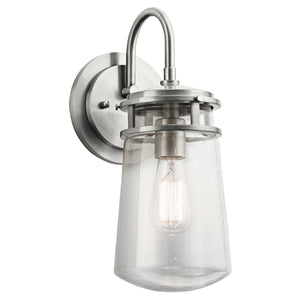 Jackson 1 Light Medium Wall Lantern - Brushed Aluminium