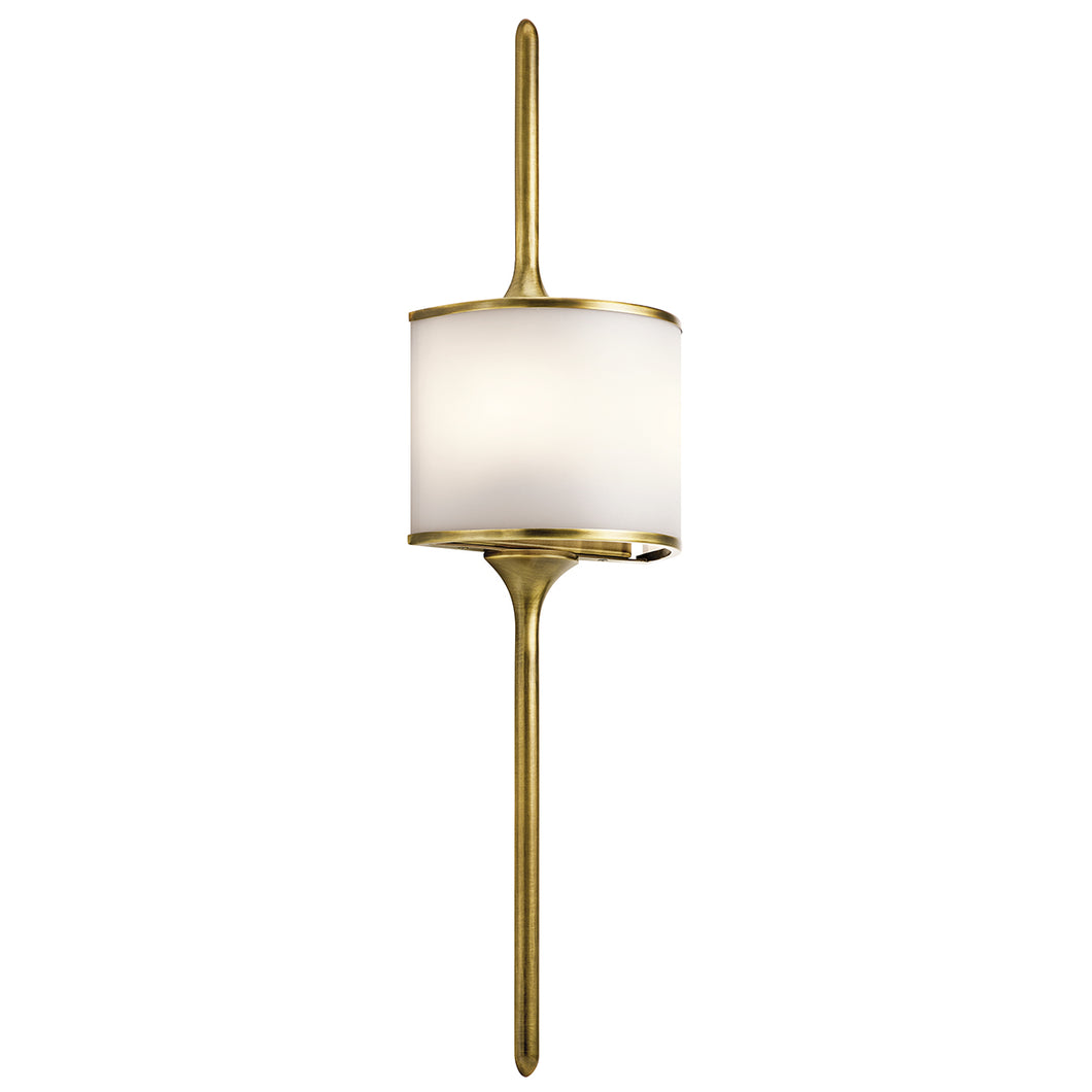 Margot 2 Light Wall Light - Natural Brass