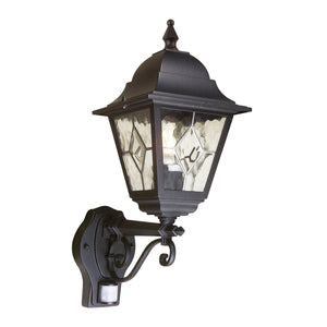 Suffolk 1 Light Up Wall Lantern With PIR