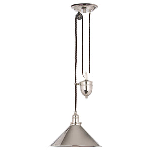 Rochelle 1 Light Rise and Fall Pendant - Polished Nickel