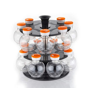 2015_Multipurpose Revolving Plastic Spice Rack Set (16pcs)