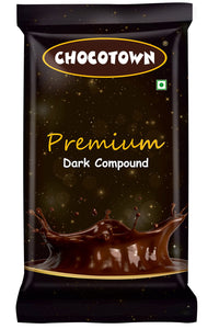 048 Chocotown Premium Dark Compound 400gm | Chocotown Dark Choco Slab