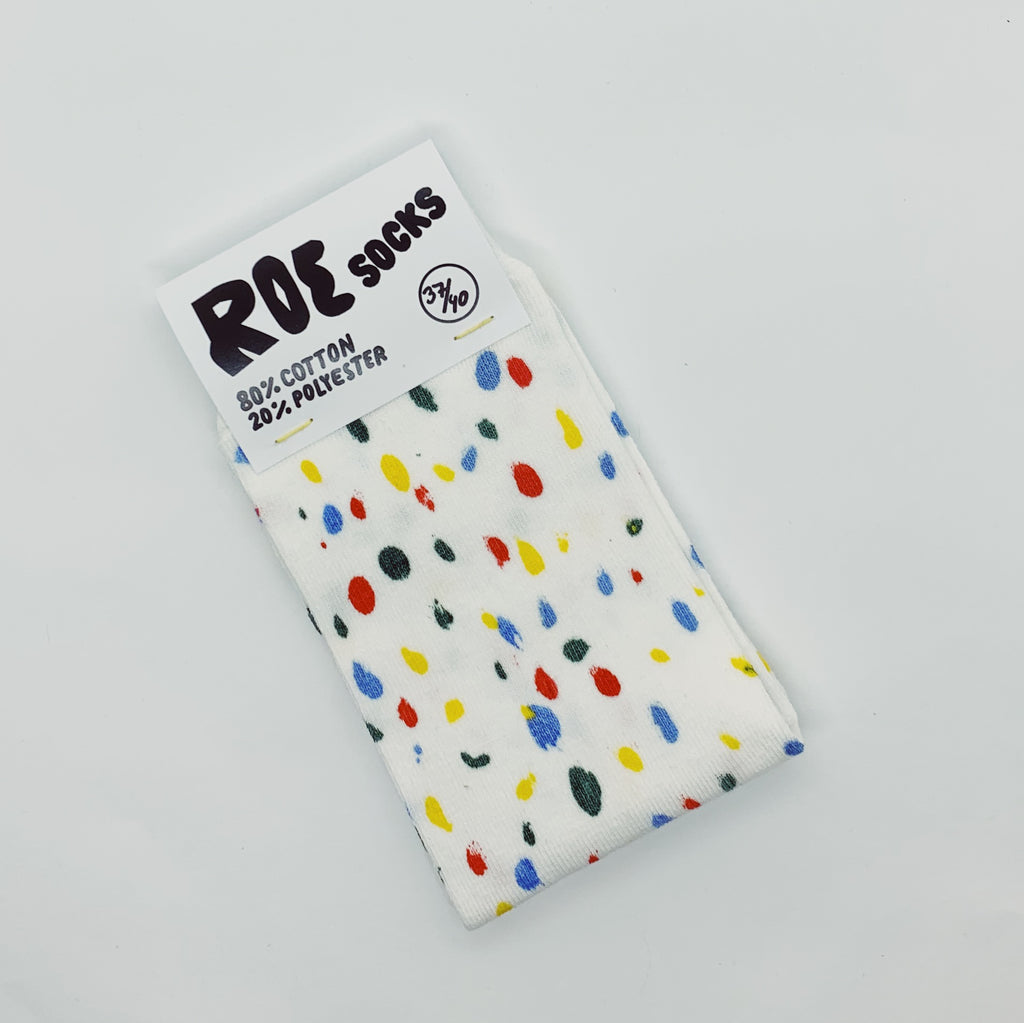 Multicoloured Dots Pattern - Screenprinted socks