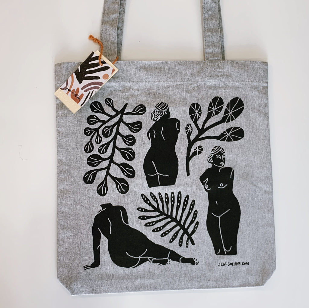 Forms Tote Bag - Grey