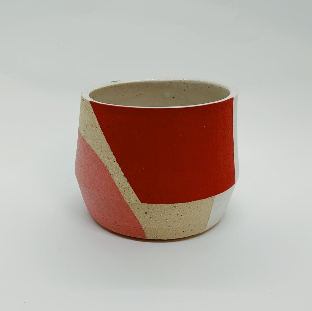 Red, Pink, and Black Mini Sharp Edge Planter