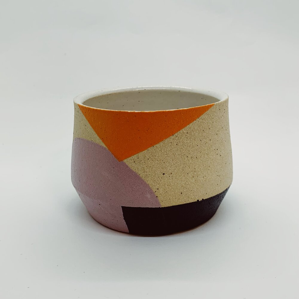 Orange, Purple, and Black Mini Sharp Edge Planter