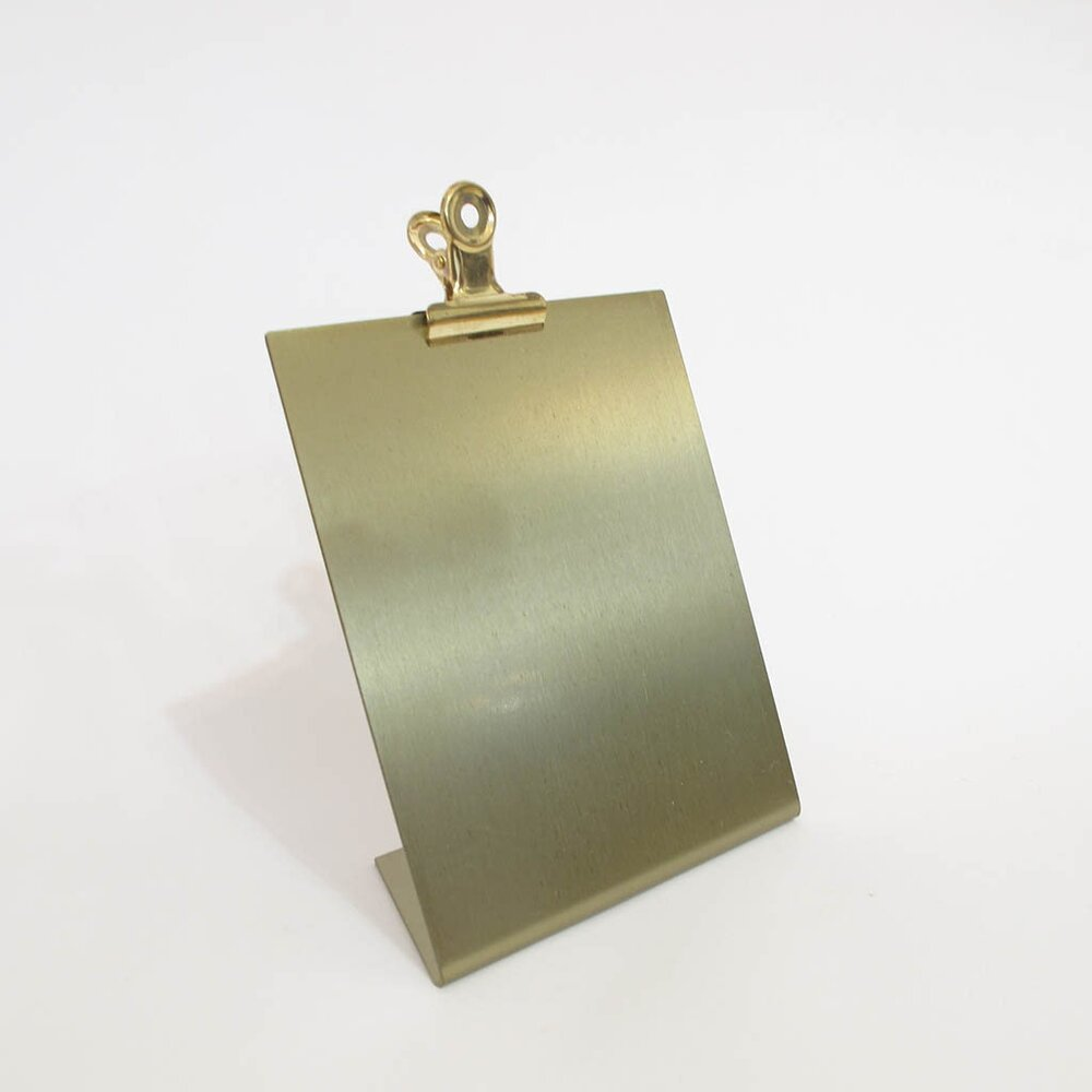 Small Metallic Clipboard Frame