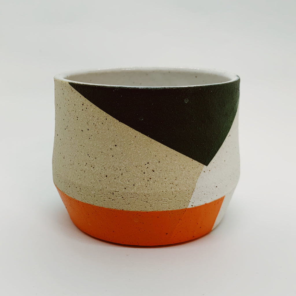 Orange, Black, and Green Mini Sharp Edge Planter