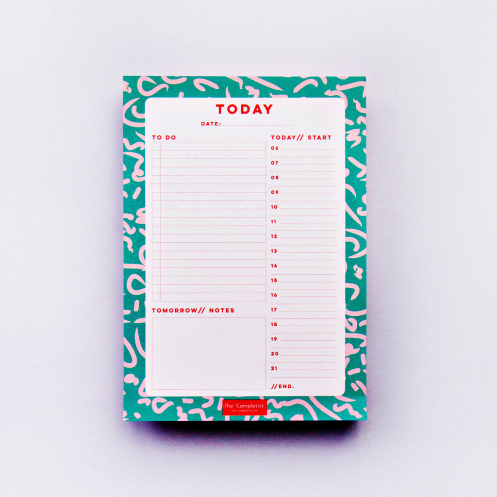 Green Daily Planner Pad