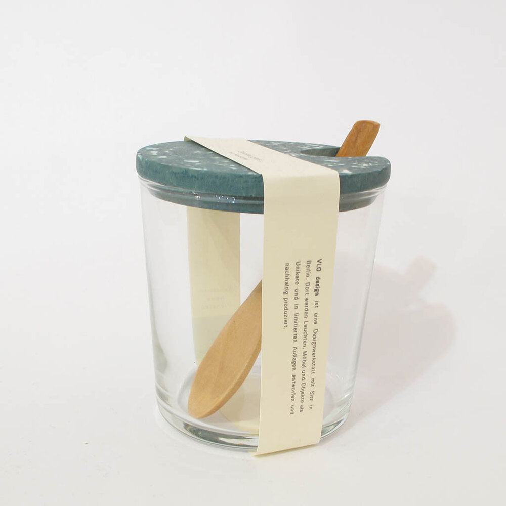 Sugar Jar with Wooden Spoon