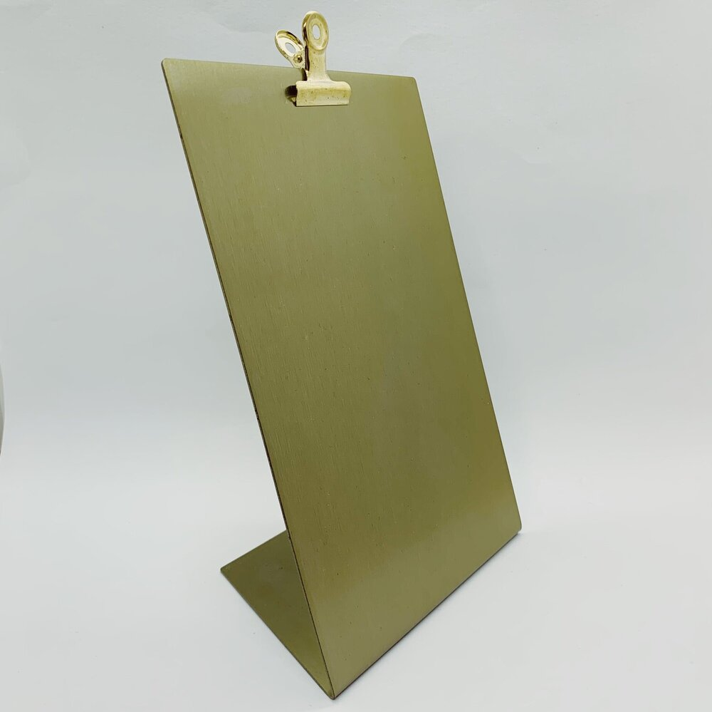 Medium Metallic Clipboard Frame