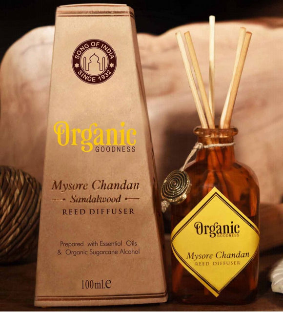 Song of India - Organic Goodness Diffuser - Mysore Chandan Sandalwood