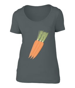 Carrot - Ladies Scoop Neck T-Shirt