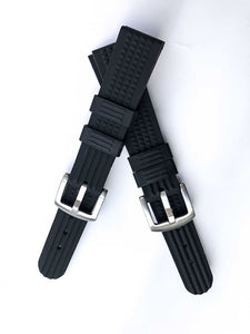 20mm Black Rubber Strap for 6217 6015 / R02X011J0 with metal buckle