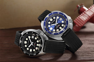 6015 Turtle Homage Blue Dial Stainless Steel Case NH35A Movt 30ATM Water Resistant